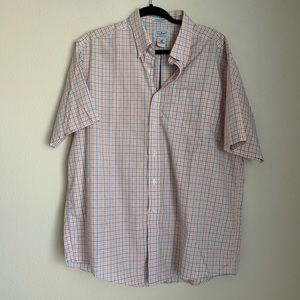 L.L. Bean plaid short sleeve button down shirt